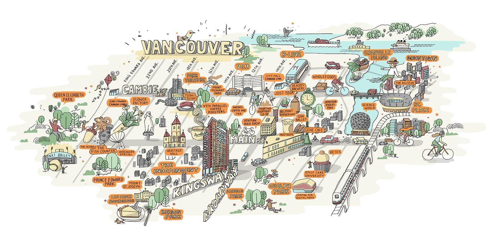 Restaurang Karta Vancouver Karta Over Vancouver Restauranger